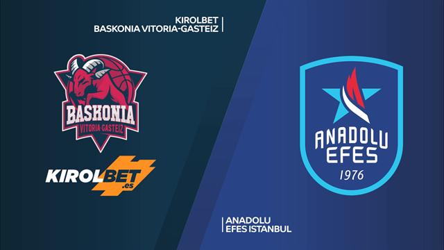 Highlights: Kirolbet Baskonia Vitoria-Anadolu Efes Istanbul 77-102