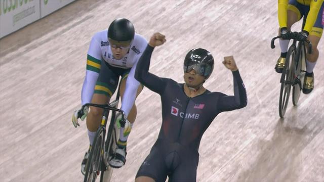Ciclismo en pista, Copa del Mundo: Awang domina el keirin masculino