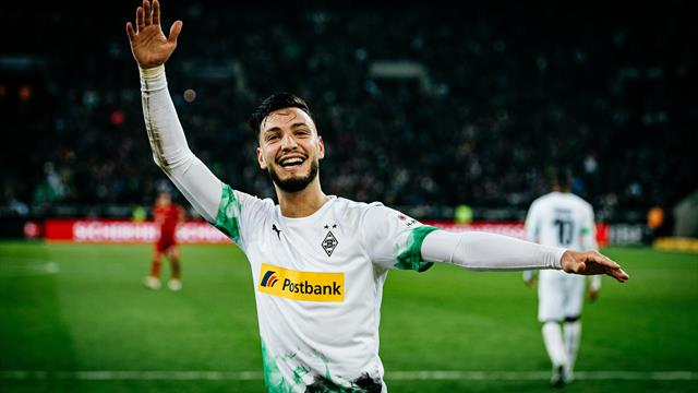 L'anecdote de Bensebaini sur son penalty face au Bayern Munich — Borussia M'gladbach