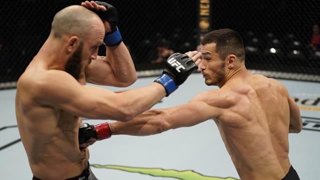 Первый узбекский боец в истории UFC эффектно вырубил соперника