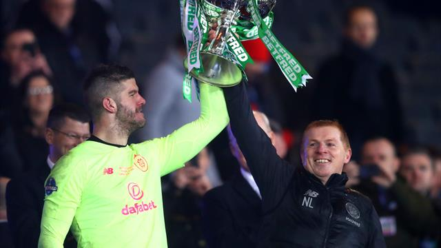 Forster the hero as 10-man Celtic beat Rangers in final