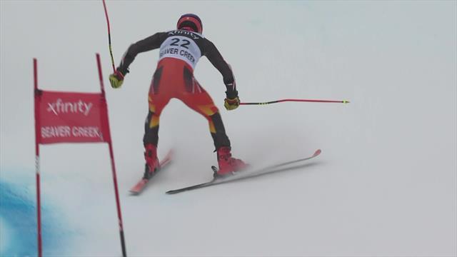 Esquí alpino, Copa del Mundo: Read echa a perder su buena actuación con una caída