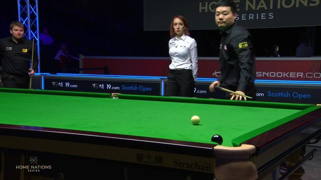 Ding polishes off victory in under an hour
