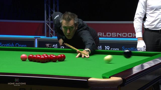 Scottish Open: ¡Se pasó de fuerza y la sacó de la mesa! Horrible tiro ante O'Sullivan