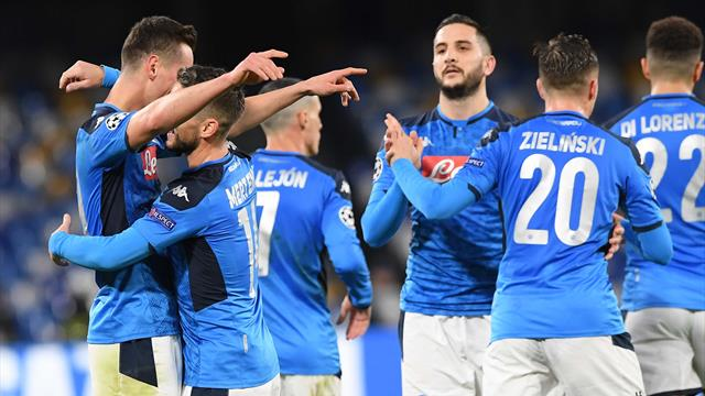 Milik fa sorridere il Napoli: 4-0 al Genk, Ancelotti può salutare con il pass per gli ottavi