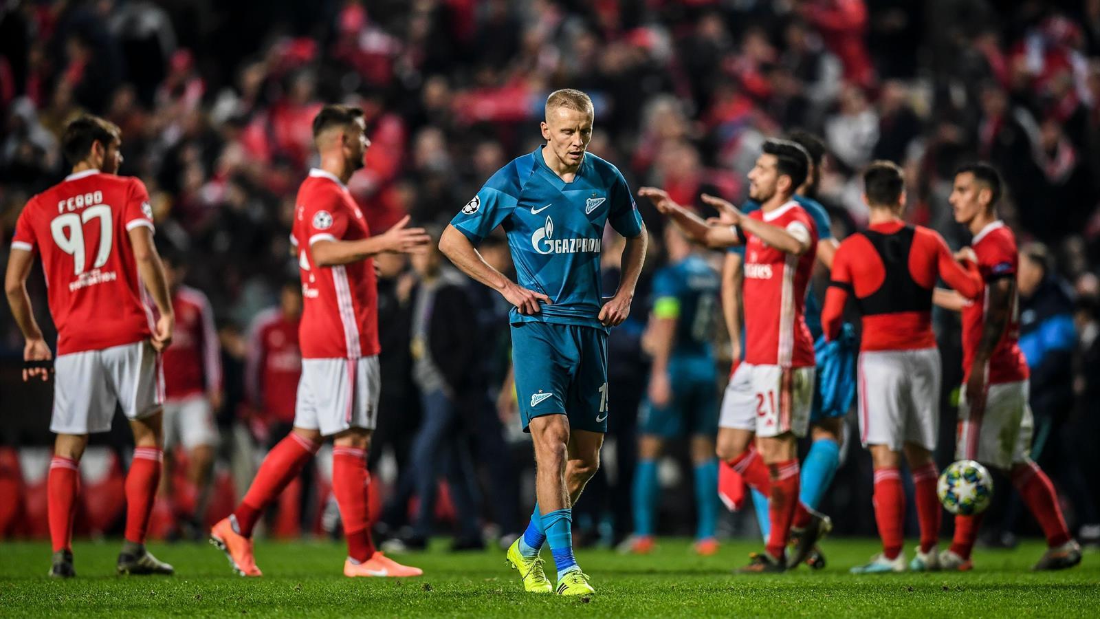Клубы Российской Премьер-лиги второй год подряд вылетели на групповом этапе Лиги чемпионов