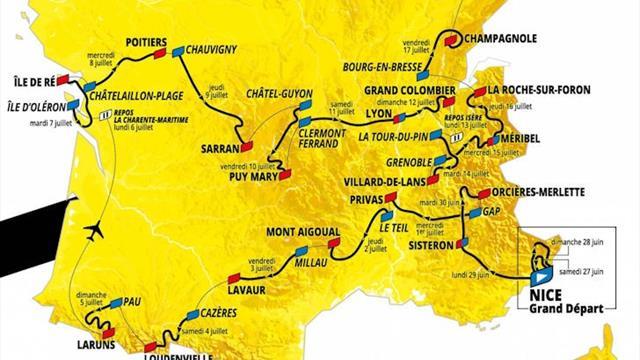 Tour de France 2020 | Parcours, etappes en profielen