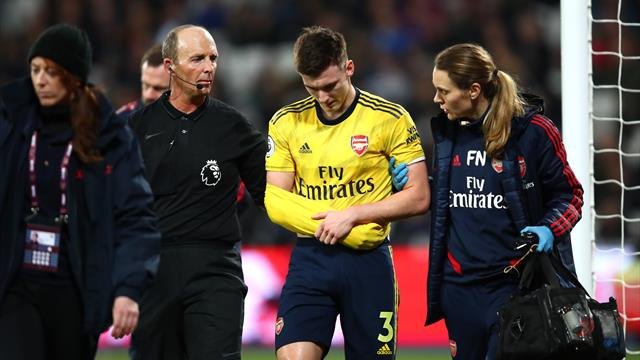 Arsenal's Kieran Tierney out for extended period with shoulder injury
