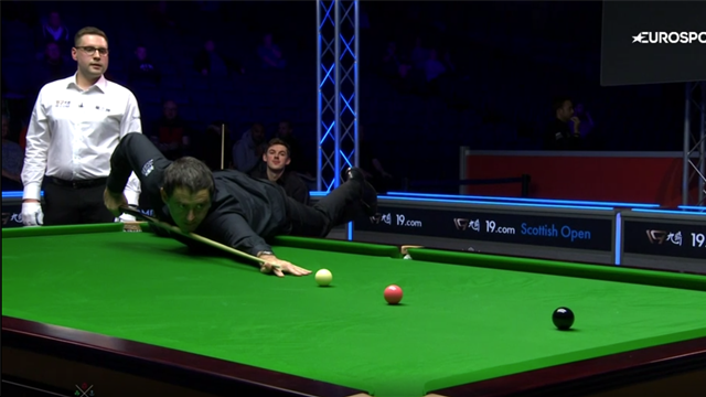 'Foul!' - O'Sullivan plays shot with both feet off the ground to end break