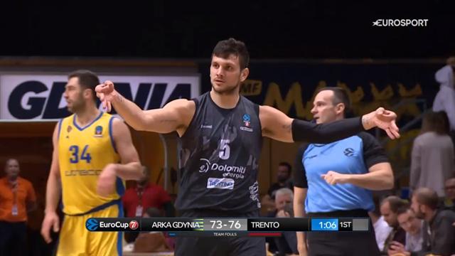 Ale Gentile esplode con 37 punti, suo massimo in carriera. Tutti i canestri contro Gdynia
