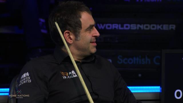Scottish Open: ¡Enchufadísimo Ronnie O'Sullivan! Centena de nivel para abrir su duelo con Gould