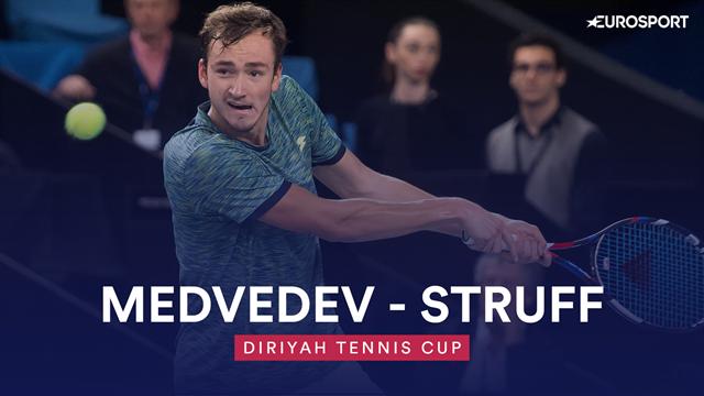 Diriyah Tennis Cup: Medvedev demolisce Struff in meno di un'ora, gli highlights