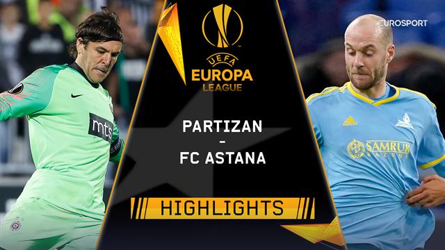 Höjdpunkter: Partizan Belgrade - FC Astana