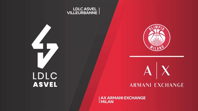Highlights: Asvel Villeurbanne-AX Armani Exchange Milano 89-82