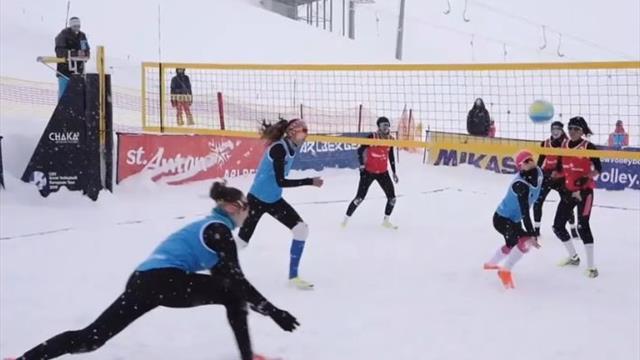 Schneespaß: So funktioniert Snow-Volleyball