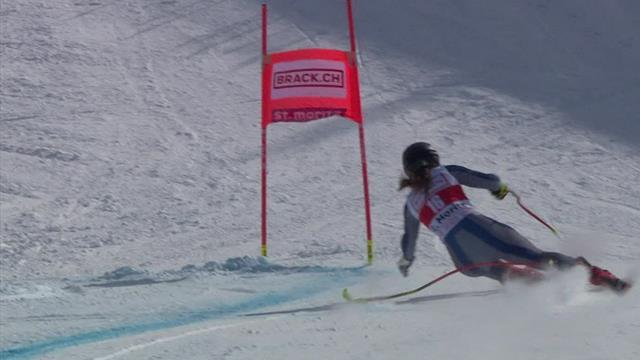 Mit nur einem Stock auf die Eins! Goggia zaubert in St. Moritz