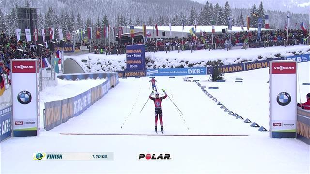 Norway take women's relay at Hochfilzen