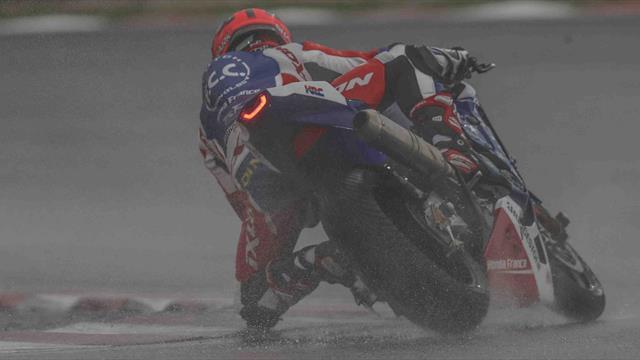 F.C.C. TSR Honda France in the lead at Sepang