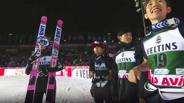 """""""Da ist er wieder!"""" Kobayashis Siegersprung aus Klingenthal"""