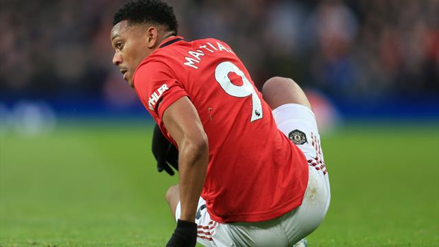 Solskjaer confirms Martial picked up a muscular injury in training yesterday