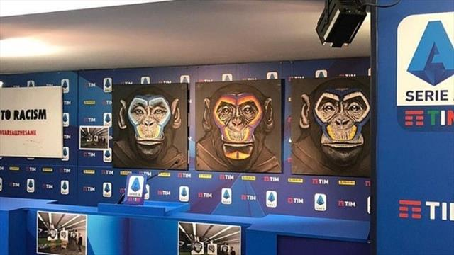 Roma and AC Milan condemn Serie A anti-racism monkey paintings