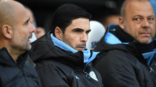 Arsenal managerial target Arteta travels with Man City