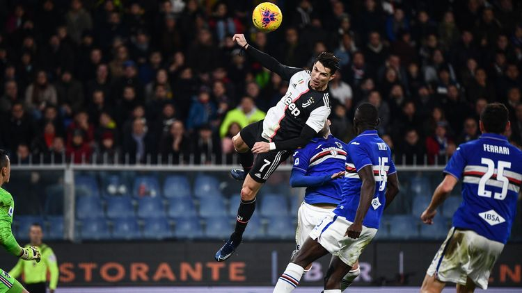 Football News Towering Cristiano Ronaldo Header Sends Juventus