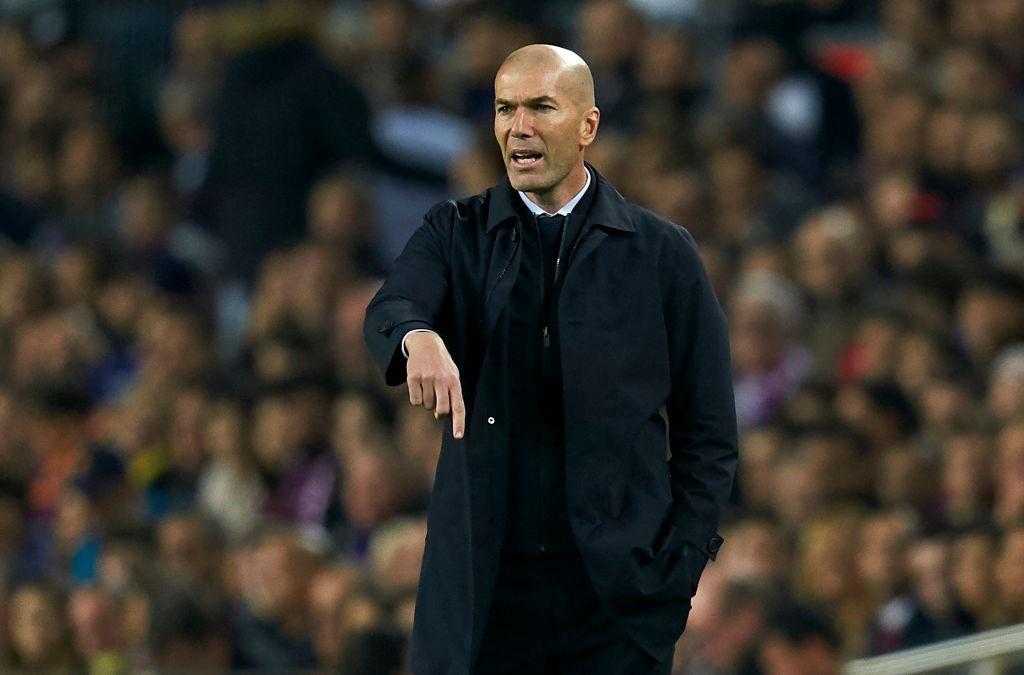 Zidane lors de Barcelone - Real Madrid