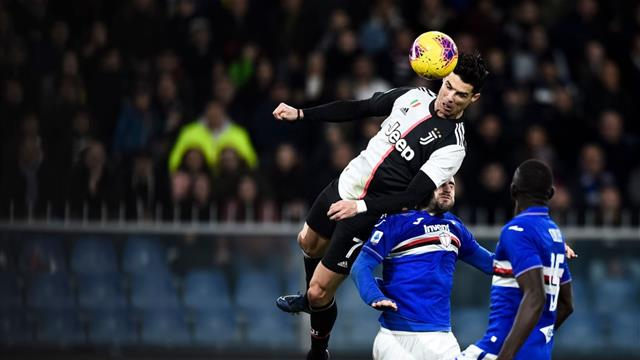 Brutal salto de Cristiano en su golazo en la victoria de la Juventus