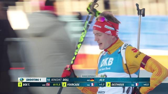 Highlights: Doll holds nerve as Johannes Thingnes Boe misses podium