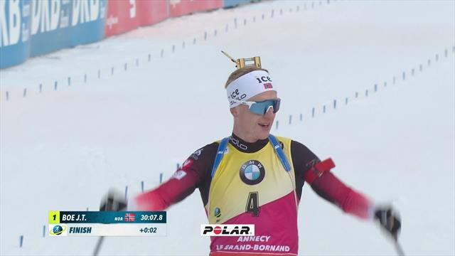 Boe powers to victory number 42 in men's Pursuit