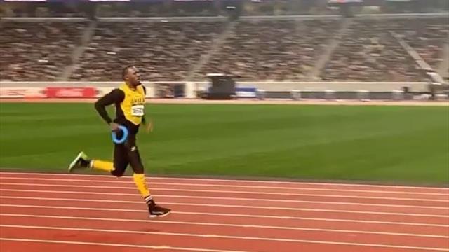 La reaparición de un Usain Bolt pasado de peso para inaugurar el estadio olímpico de Tokio 2020