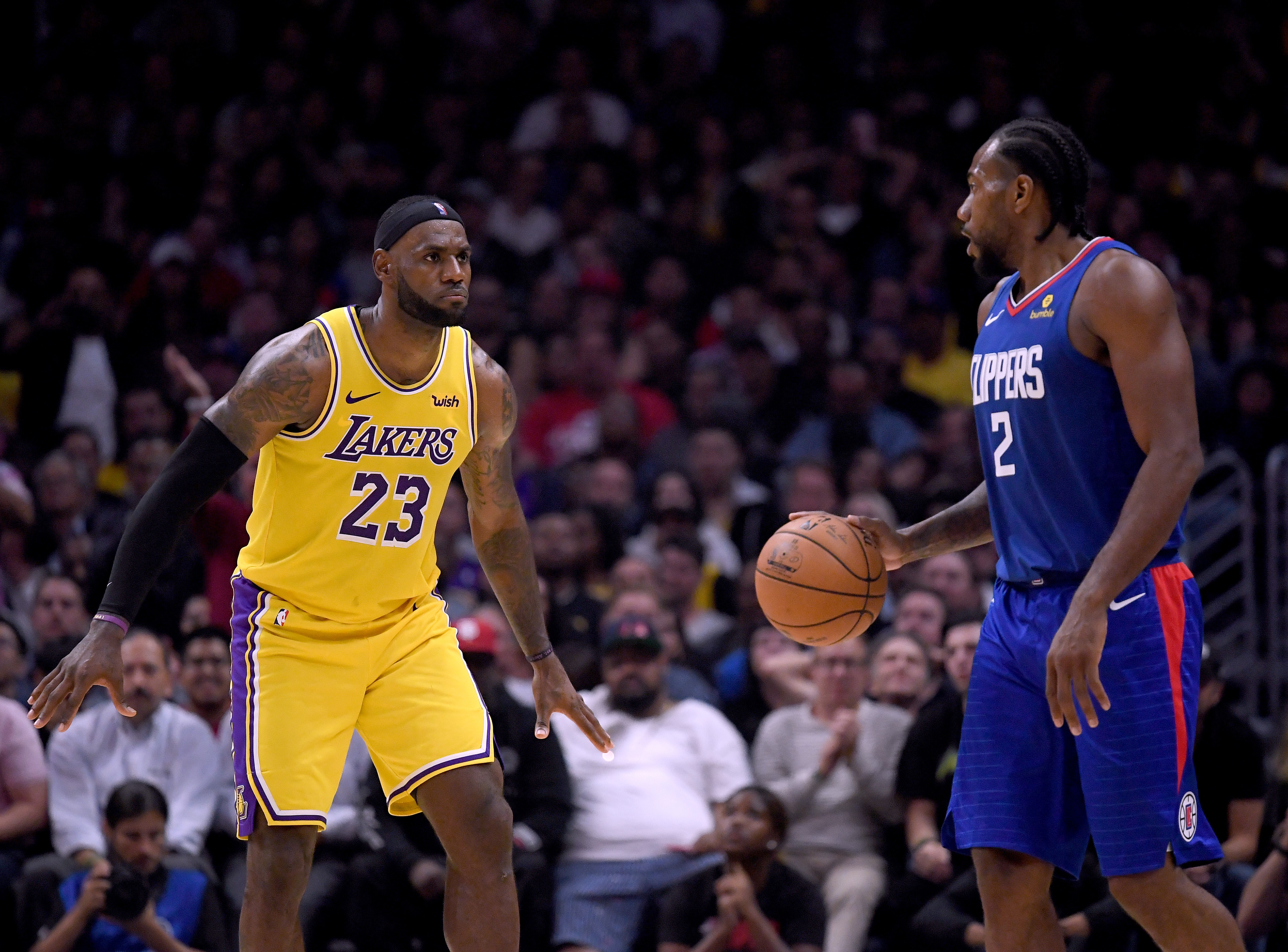 LeBron James ve Kawhi Leonard | Los Angeles Lakers-Los Angeles Clippers