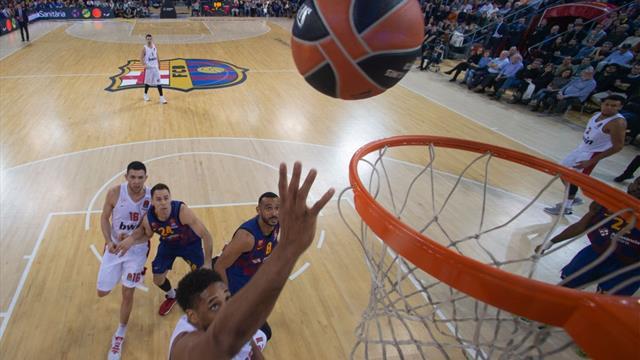 Euroliga, Barcelona-Olympiacos: Paseo azulgrana en la segunda mitad pensando en el Clásico (90-80)