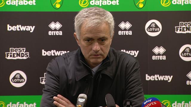 Mourinho: We gave Norwich a December 28th present