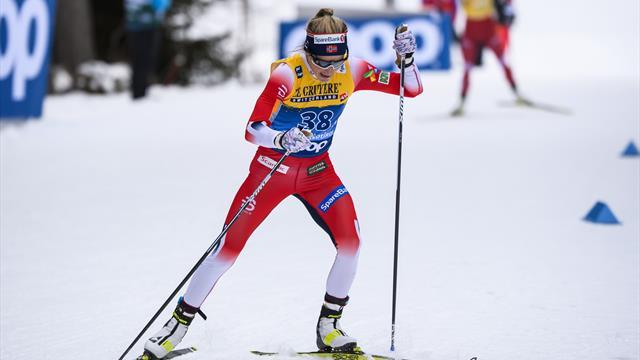 Kaputt und glücklich: Johaug triumphiert auf der berühmten Alpe Cermis