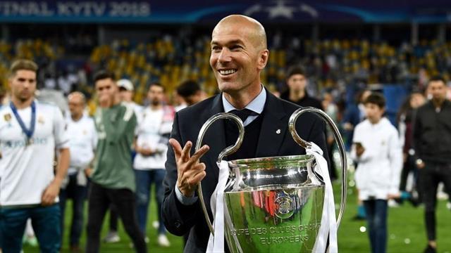Зидан выиграл все 9 финалов за время работы в «Реале»