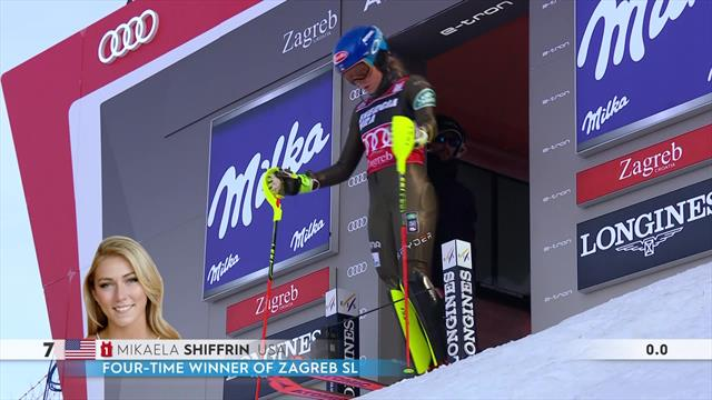 Slight error from Shiffrin on first run leaves work to do