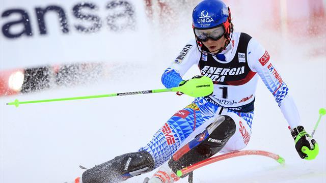 Impressive Vlhova holds off Shiffrin to end American's slalom run