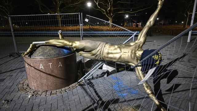 An den Füßen abgesägt: Ibrahimovic-Statue erneut beschädigt