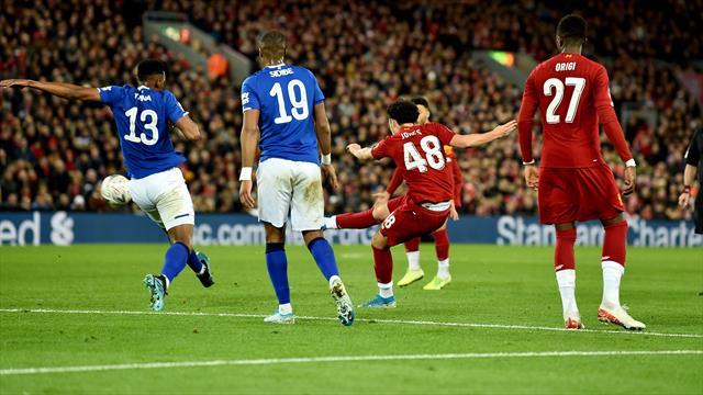 Волшебный гол в девятку 18-летнего мальчиша, который провел «Ливерпуль» в Кубке