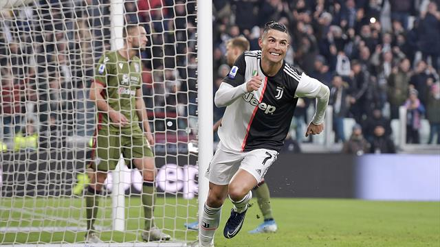 Dreierpack Ronaldo! Juventus bleibt mit Sieg an Inter dran