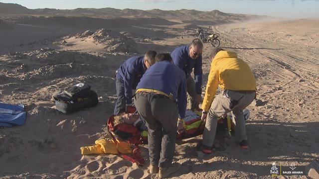 Dakar 2020: Espectacular accidente de Van Beveren que le obligó a retirarse