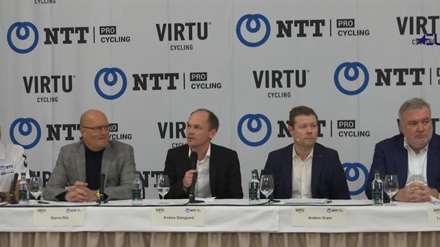 Bjarne Riis og Virtu Cycling indgår samarbejde med NTT Pro Cycling: Se hele pressemødet her