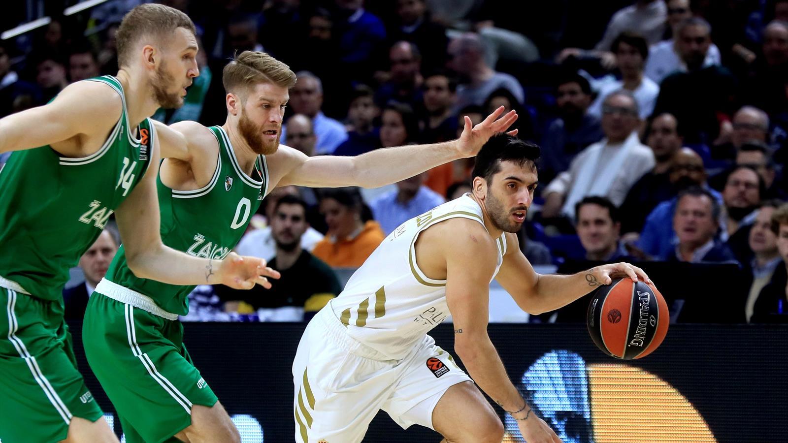 Sólo el Real Madrid consigue la victoria y mantiene el pulso con Anadolu Efes que venció al FC Barcelona. Valencia Basket y Baskonia siguen fuera de los 8 primeros