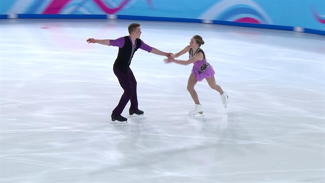 JJ.OO. de la Juventud, patinaje artístico: Espectacular programa corto por parejas con victoria rusa