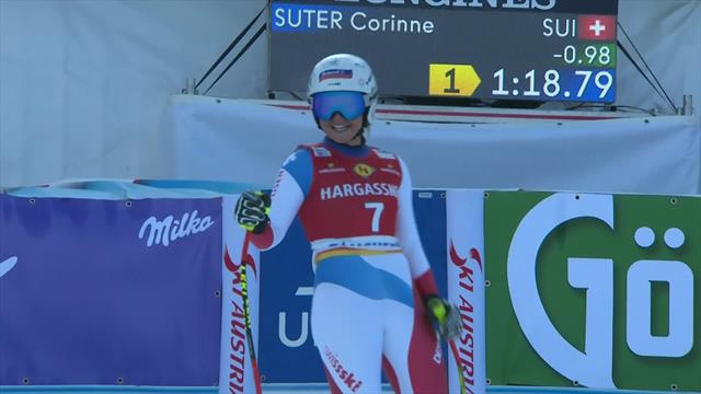 Corinne Suter storms to downhill success