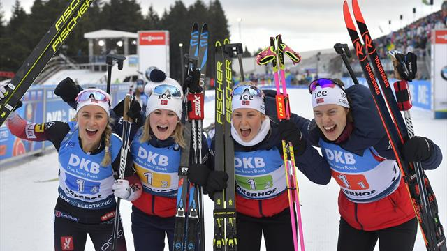 Highlights: Norway claim women's relay