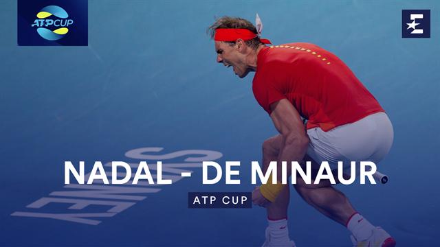 Höjdpunkter: Nadal - De Minaur
