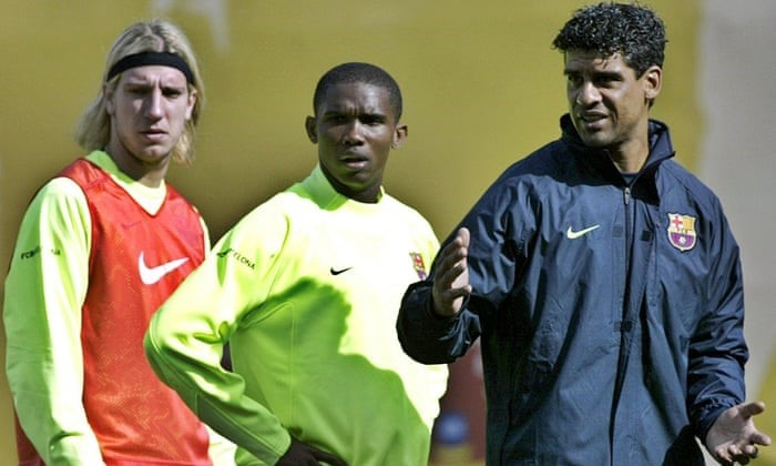 Maxi Lopez, Samuel Eto'o ve Frank Rijkaard